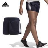 Adidas Athletics 女 深藍 短褲 運動短褲 慢跑褲 健身 瑜珈 休閒 排汗 棉褲 短褲 CZ5675