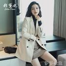 外套 網紅西裝上衣潮修身春季新款韓版時尚百搭寬鬆垂感西服外套夏