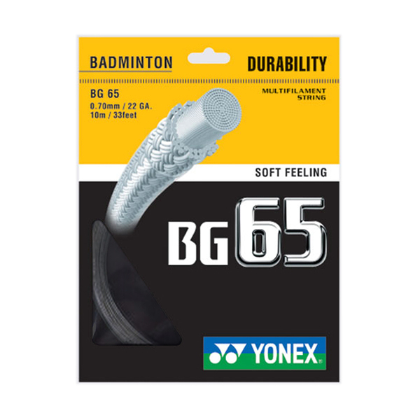 Yonex Bg-65 Badminton String [BG65-007] 羽線 鈦金屬 日本製 優乃克 黑