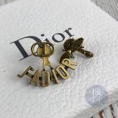 BRAND楓月 CHRISTIAN DIOR 迪奧 金色 復古 蜜蜂 JADIOR CD 耳環 飾品 配件