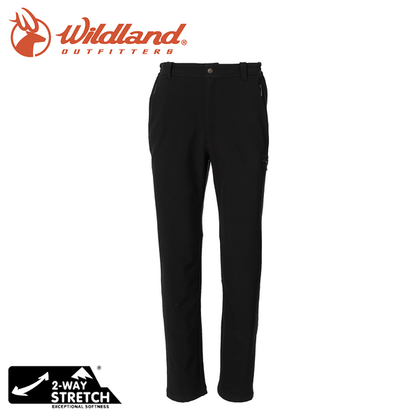 【Wildland 荒野 男 SOFTSHELL直筒保暖褲《尊爵灰》】0A72318/雪褲/運動褲/休閒褲/登山