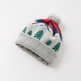 嬰兒帽 davebella戴維貝拉2019冬季新款男童帽子寶寶套頭針織帽DB11430-1 小宅女