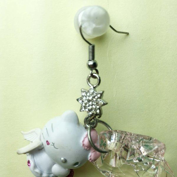 【震撼精品百貨】Hello Kitty 凱蒂貓~耳環-星天使造型