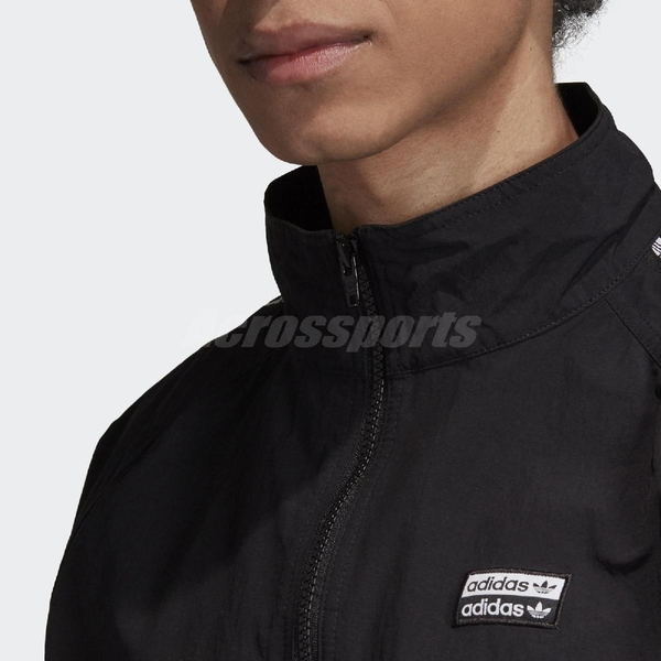 adidas 外套 Track Jacket 黑 白 男款 風衣外套 運動休閒 【ACS】 FL1763