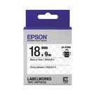 EPSON LK-5TBW C53S655410 高黏性系列透明底黑字標籤帶