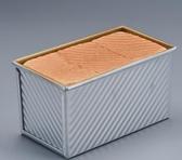 【巧廚烘焙_展藝吐司盒450g】波紋不沾土司模面包帶蓋模具 烤箱用