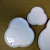 日本陶瓷【小田陶器】日本tomoe餐盤 中 三花白瓷盤】餐盤 瓷盤 水果盤 陶瓷 餐具 盤子