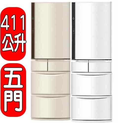 國際牌【NR-E412VT-N1/NR-E412VT-W1】五門冰箱NR-E412VT/E412VT