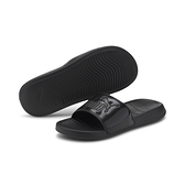 PUMA POPCAT 20女款全粉黑軟皮面拖鞋-NO.37447102