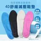 免運【用昕】4D舒緩減壓鞋墊~4色可選(約長26.5*寬8.5cm/適用於35~41cm)/鞋墊/腳墊