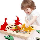 多層拼圖兒童玩具男女孩3-6周歲寶寶1-2-3-4-7歲早教益智拼板積木       韓小姐