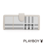 PLAYBOY- 名片夾 Charming Girl 風韻兔格系列-格紋灰