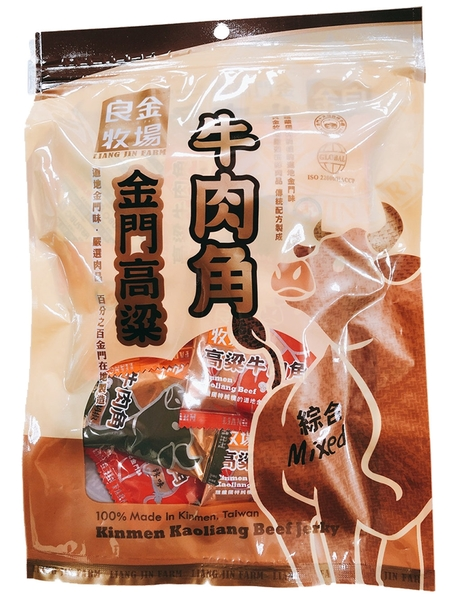 金德恩 台灣製造 金門良金牧場 金門高粱牛肉角 - 原味/辣味/黑胡椒 共五種口味任選