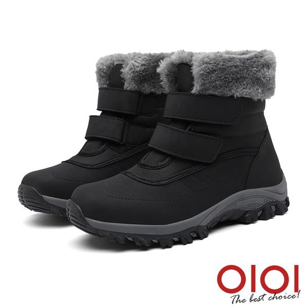 雪靴 時尚機能防潑水魔鬼氈雪靴(黑) *0101shoes【18-A629bk】【現+預】