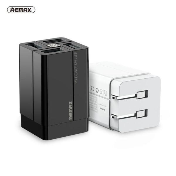 【Love Shop】REMAX 多功能4孔usb充電器3.4A 多口usb快充手機/pd充電器/豆腐頭