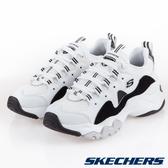 SKECHERS DLITES 3.0 女鞋 休閒 厚底 增高 老爹鞋 熊貓 黑 白【運動世界】12955WBK