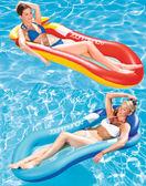 (萬聖節狂歡)成人水上浮排 單人水上遊泳充氣浮床 沙灘墊海灘躺椅