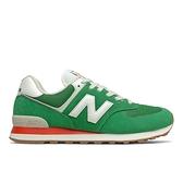New Balance 男女款綠色運動休閒鞋 ML574HE2