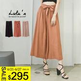 LULUS特價-Y-綁帶鬆緊寬褲-3色  現+預【04051366】