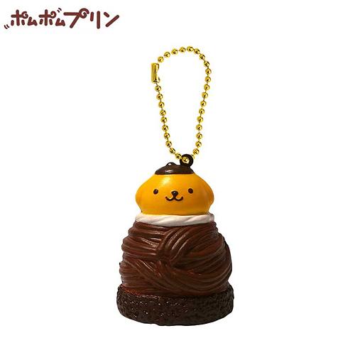 【日本正版商品】 布丁狗 咖啡色款 蒙布朗 捏捏吊飾 美食 吊飾 擺飾 捏捏樂 三麗鷗 - 610607