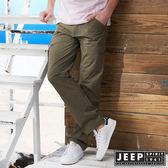 【JEEP】時尚造型口袋工作長褲 (深卡其)