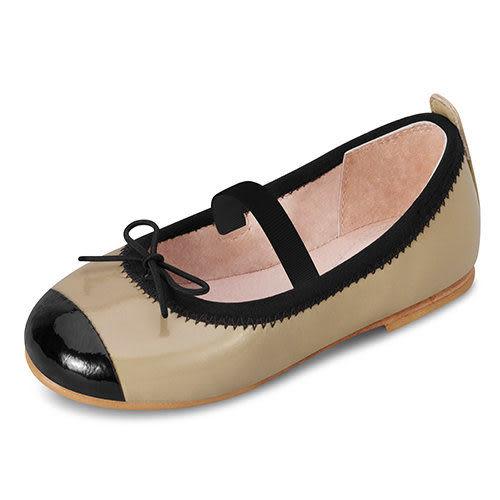 童鞋 / 娃娃鞋 澳洲Bloch芭蕾舞鞋 │黑邊蝴蝶結芭蕾舞鞋-咖啡 #BT418B CAP