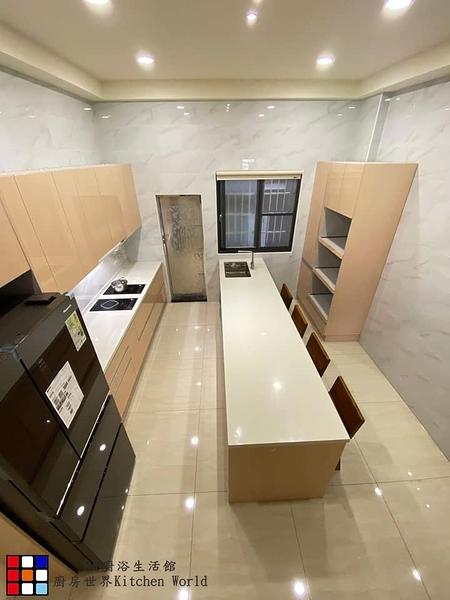 【PK廚浴生活館】高雄 客製化 歐化系統廚具 上下櫃 一字型 流理台 284公分 + 電器櫃 + 中島