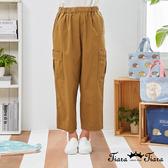 【Tiara Tiara】百貨同步新品aw  雙口袋鬆緊腰長褲(卡其)