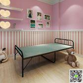 折疊床 折疊床單人床木板床簡易加固成人午睡床簡約午休床單人折疊床90cm igo阿薩布魯