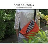 CORRE【CG71075】帆布印刷條紋郵差包