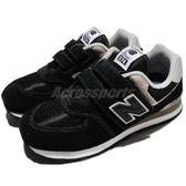 New Balance 慢跑鞋 574 NB 黑 灰 白 麂皮 運動鞋 休閒鞋 中童鞋 童鞋【PUMP306】 YV574GKW