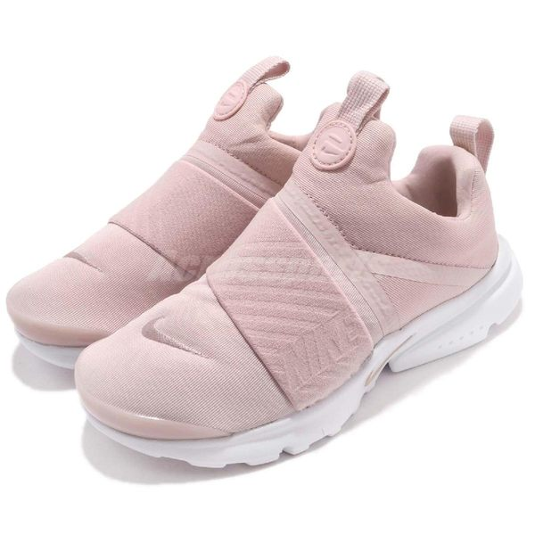 Nike 休閒慢跑鞋 Presto Extreme PS 粉紅 白 無鞋帶 襪套式 魚骨鞋進化 童鞋 中童鞋【PUMP306】 870024-601