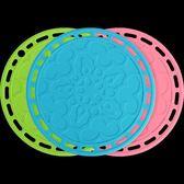 春季上新 圓形硅膠防燙水餐桌墊餐墊隔熱墊創意盤墊杯墊碗墊子家用耐熱鍋墊
