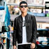皮衣外套男 布衣傳說秋季機車服皮衣男士修身韓版帥氣青年立領皮夾克衣服外套 俏女孩