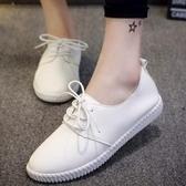 現貨-女鞋小白鞋單鞋2020新款春款平底夏季運動休閒小皮鞋百搭春季2020-29交換禮物