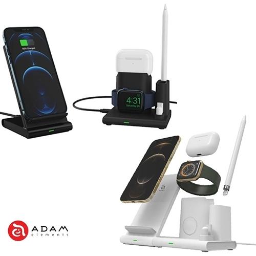 ADAM 亞果元素 OMNIA Q4 四合一 無線充電座 內含18W充電器