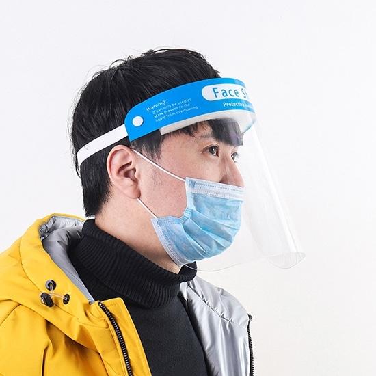 防疫面罩 面罩 透明 防護面罩 雙面 油煙擋板 頭戴式 防飛沫 防霧 PEA 防飛沫面罩【Z125】慢思行