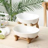 果盤陶瓷水果盤創意現代客廳家用北歐簡約風大號雙層果籃 【時髦新品】