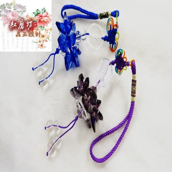 【Ruby工作坊】 NO.61PU切割深紫水晶觀音蓮花球吊飾(加持祈福)