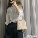 小方包 包包女2021新款潮夏天簡約側背手提包時尚斜背包錬條包百搭小方包 晶彩 99免運