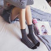 3雙裝春秋季棉質女士小熊刺繡中筒襪條紋可愛長襪中筒襪女襪中筒襪女襪正韓台秋節88折