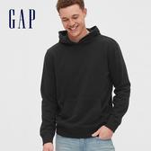 Gap男裝 基本款純色連帽上衣 567866-純正黑色