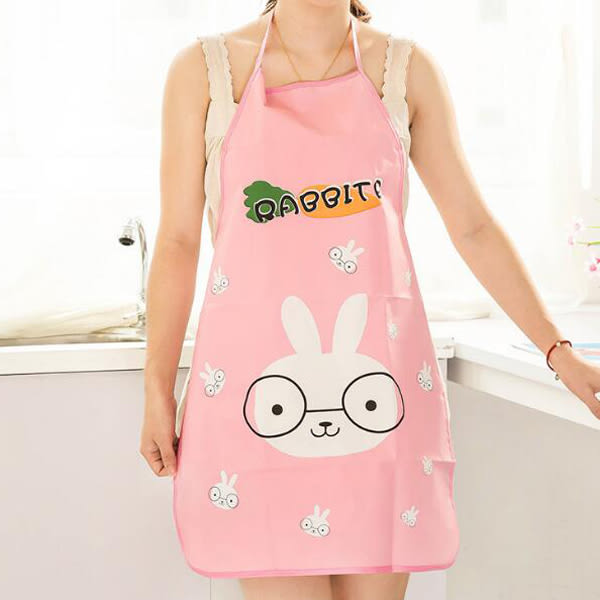 【BlueCat】韓版萌動物薄款PVC圍裙