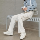 冰絲寬管褲女春夏季2021新款薄款高腰白色寬鬆直筒休閒拖地女褲子【快速出貨】