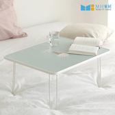 【MH家居】床上桌 電腦桌 茶几 和室桌 韓國折疊小桌 藍色(L)