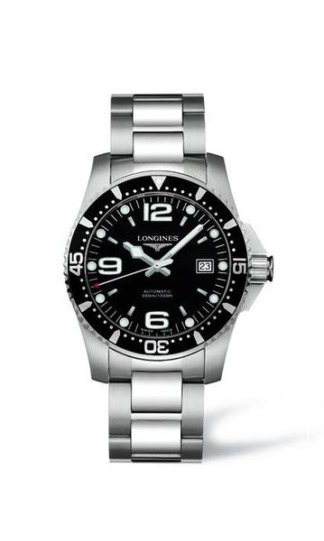 【送品牌禮物】深海征服者系列L38404566黑水鬼石英錶44mm