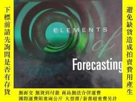二手書博民逛書店Elements罕見of forecasting預測要素 ( )