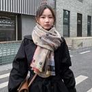 韓版仿羊絨保暖圍巾女秋少女軟妹百搭披肩兩用外搭時尚長款女 快速出貨