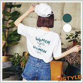 T恤 圓領印花質感短袖T恤KY0160-創翊韓都
