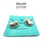【台中米蘭站】TIFFANY 925純銀 相思豆 夾式耳環